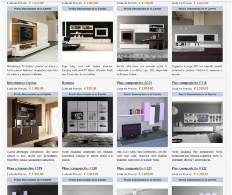 Arredaclick muebles italianos online paredes equipadas for Muebles italianos online