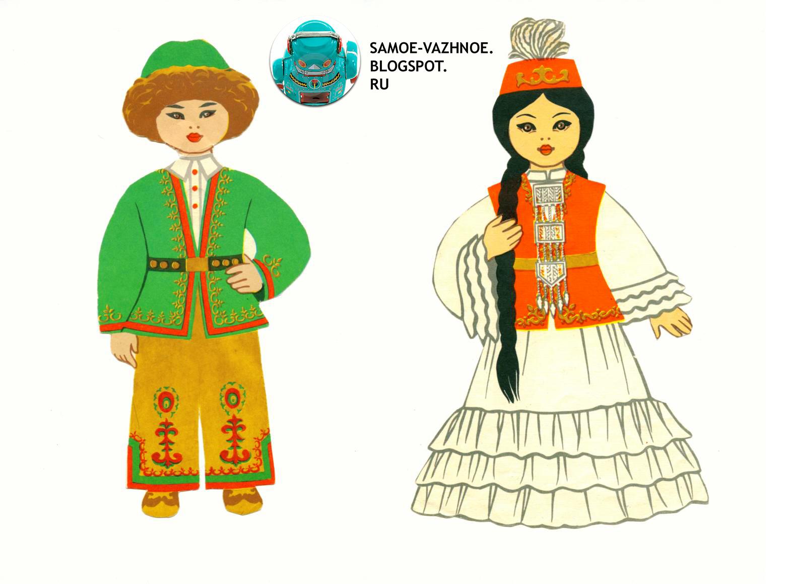 48Азербайджанский костюм раскраска