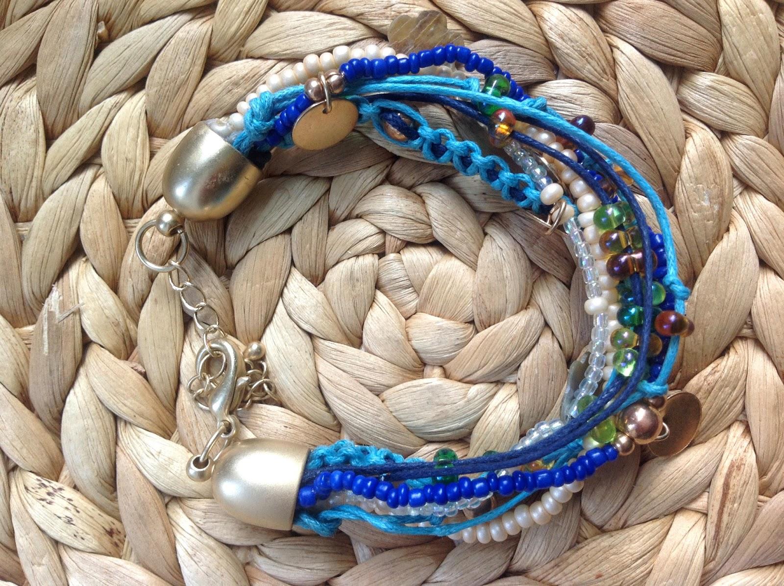 kiss showroom diy makramee armband mit perlen und. Black Bedroom Furniture Sets. Home Design Ideas