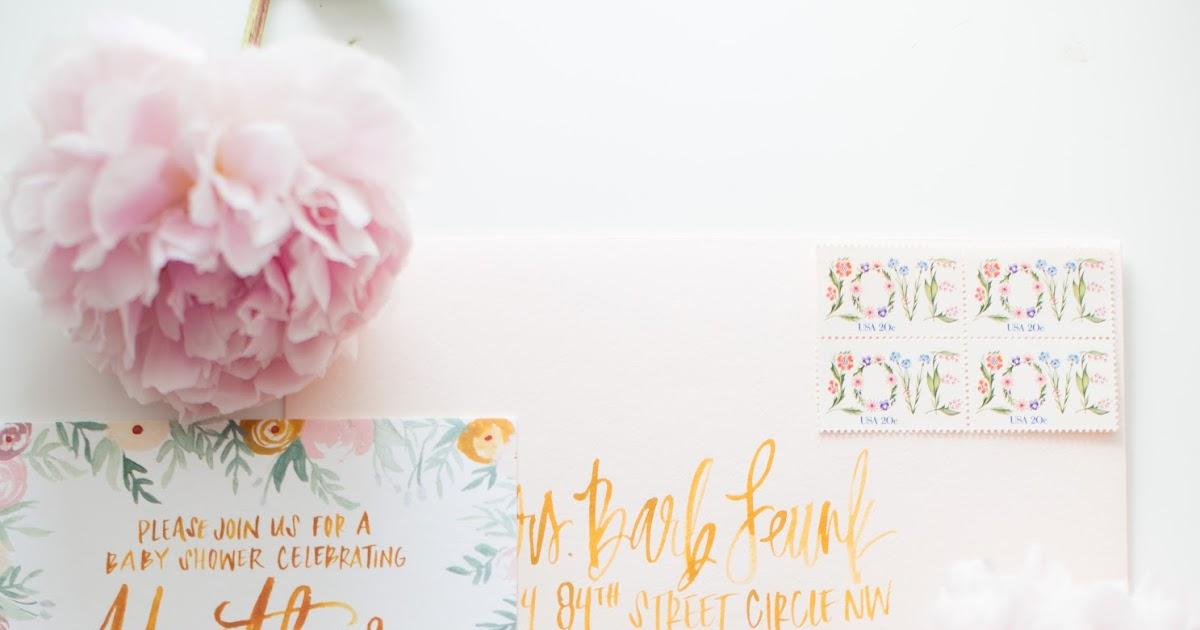 wildflowers blog blush mustard floral baby shower