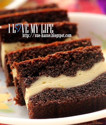 resepi kek coklat cheese meleleh paling best ni aku letak ler resepi