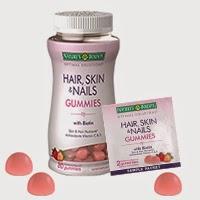 bottle-packet-gummies200px(3) Nature's Bounty Hair, Skin & Nails Gummies - Healthy Skin Hair Nails Supplement