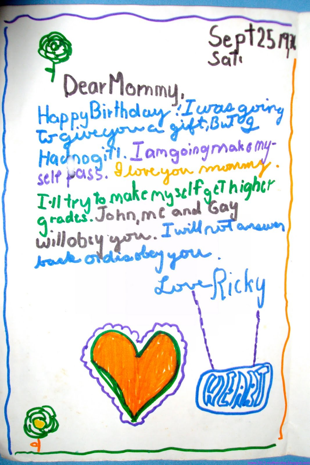 happy mother's day letters for Dear Mother on Mothers day