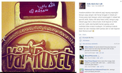 Print Screen Facebook Makcik Hajjah Sitt Al-Wazura Yang Menghina Islam