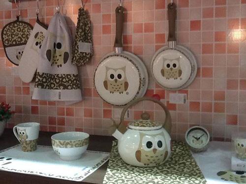 my owl barn owl print dinnerware pans