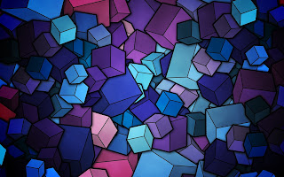 Abstract Cubic Shape Background Wallpaper