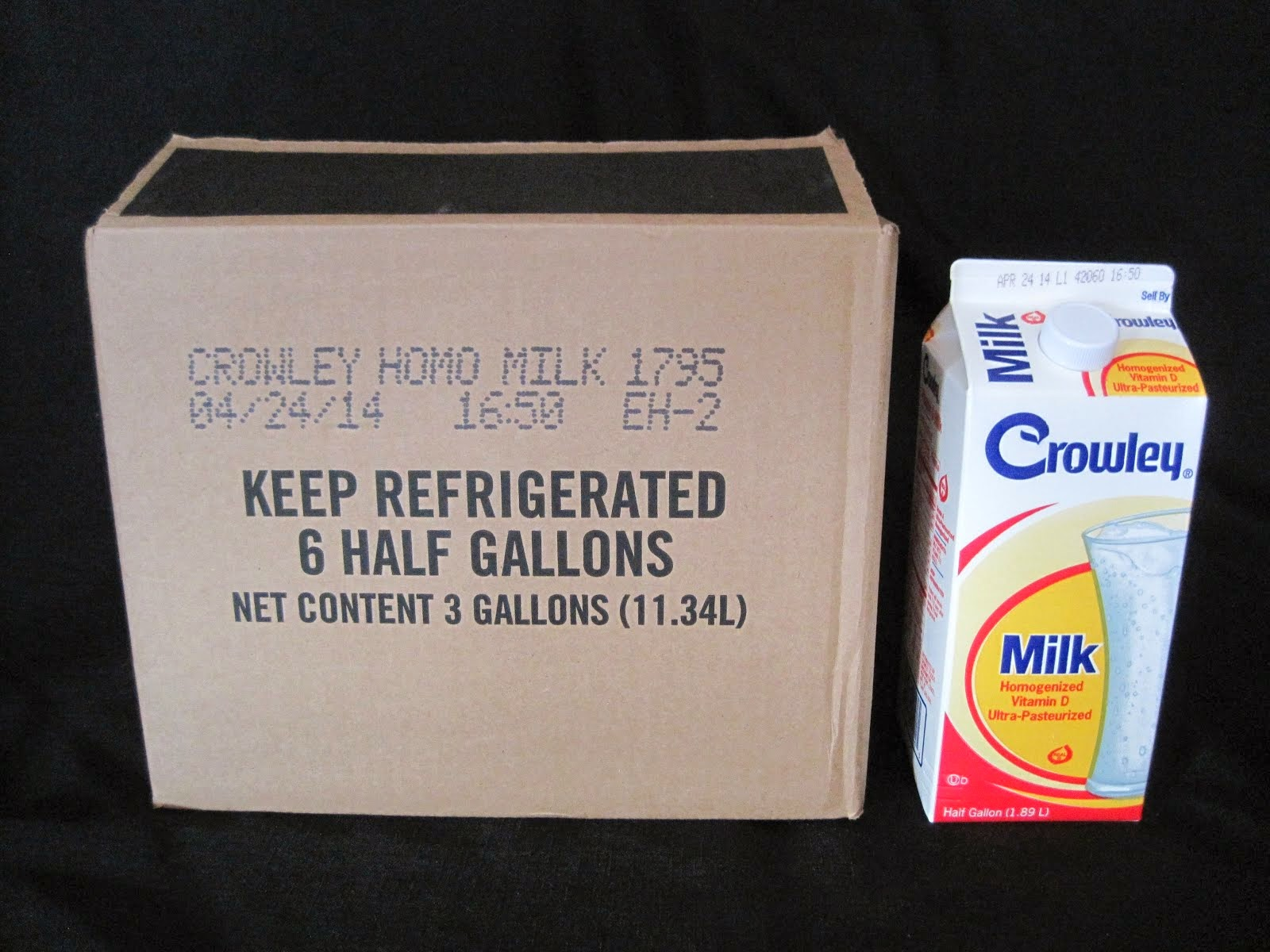 Ultra Pasterized Whole Milk 6-1/2 gal - 6 week Shelf life - Item # 43130