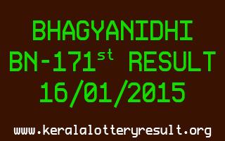BHAGYANIDHI Lottery BN-171 Result 16-01-2015