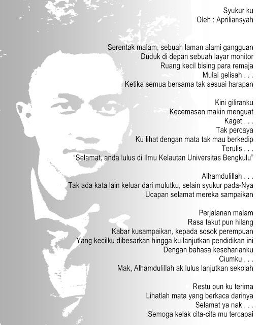 "Karya Apriliansyah Musi Rawas II : ""Syukurku"""
