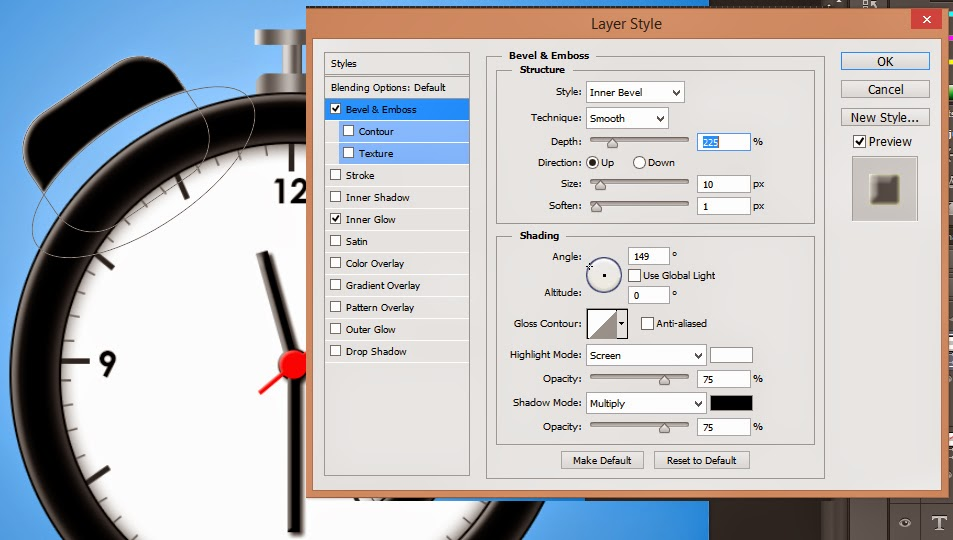 membuat icon alarm, icon photoshop,tutorial icon photoshop