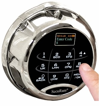 dual electronic safe lock with manual safe lock override