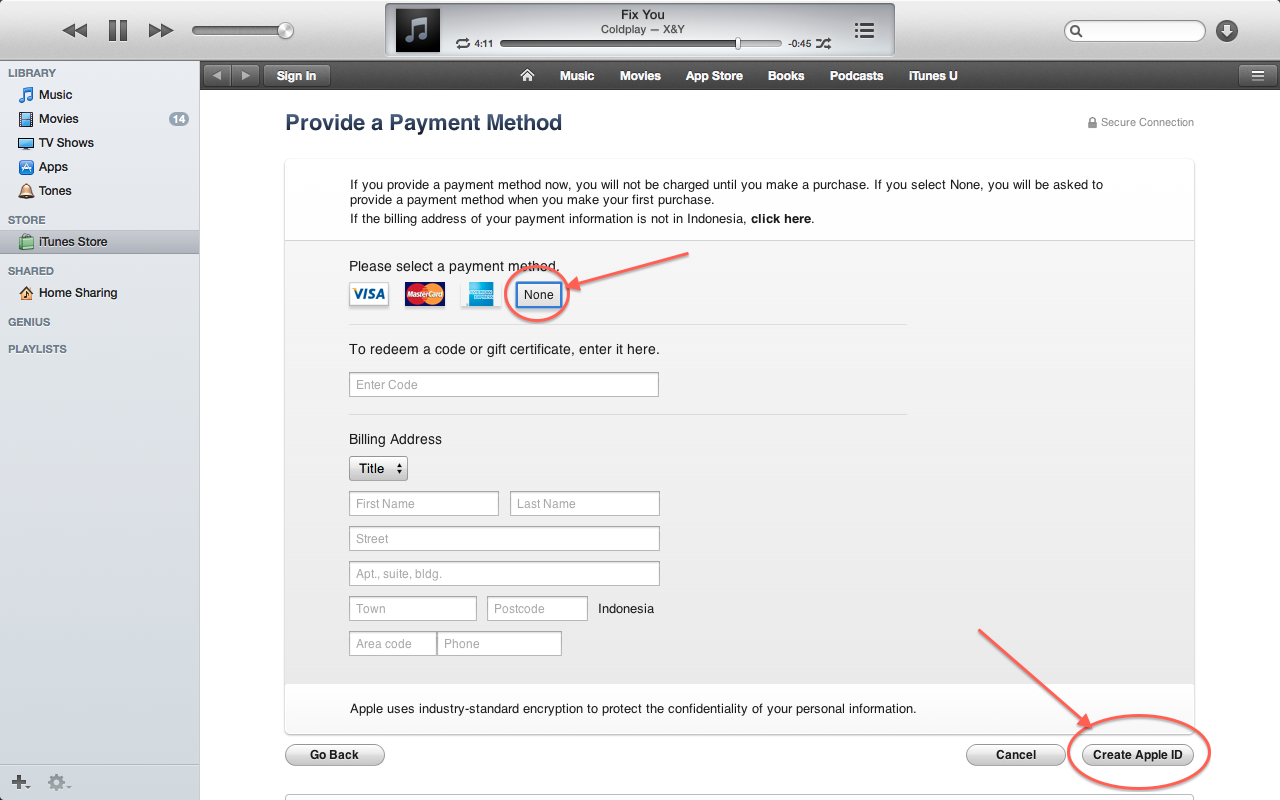 all about : Cara Membuat Apple ID Tanpa Kartu Kredit