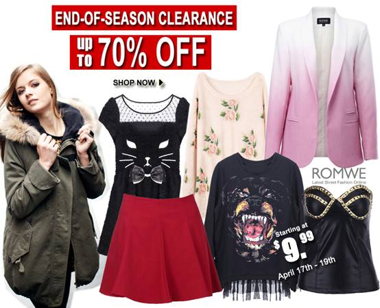 Romwe Clearance Sale