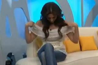 Oops Sandra Corcuera  à la TV