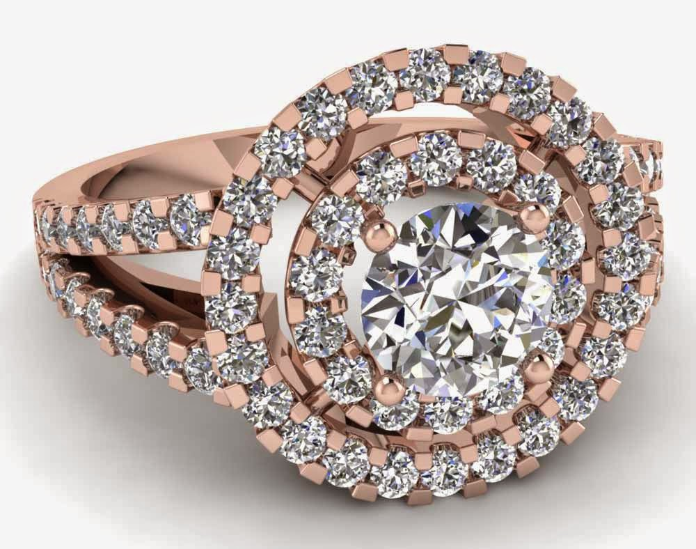 Tacori Pink Wedding Rings Rose Shaped Model pictures hd