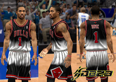 NBA 2K13 Chicago Bulls Fictional Jersey PC Mod