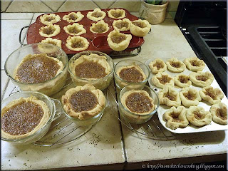 hubby and SIL made butter tarts