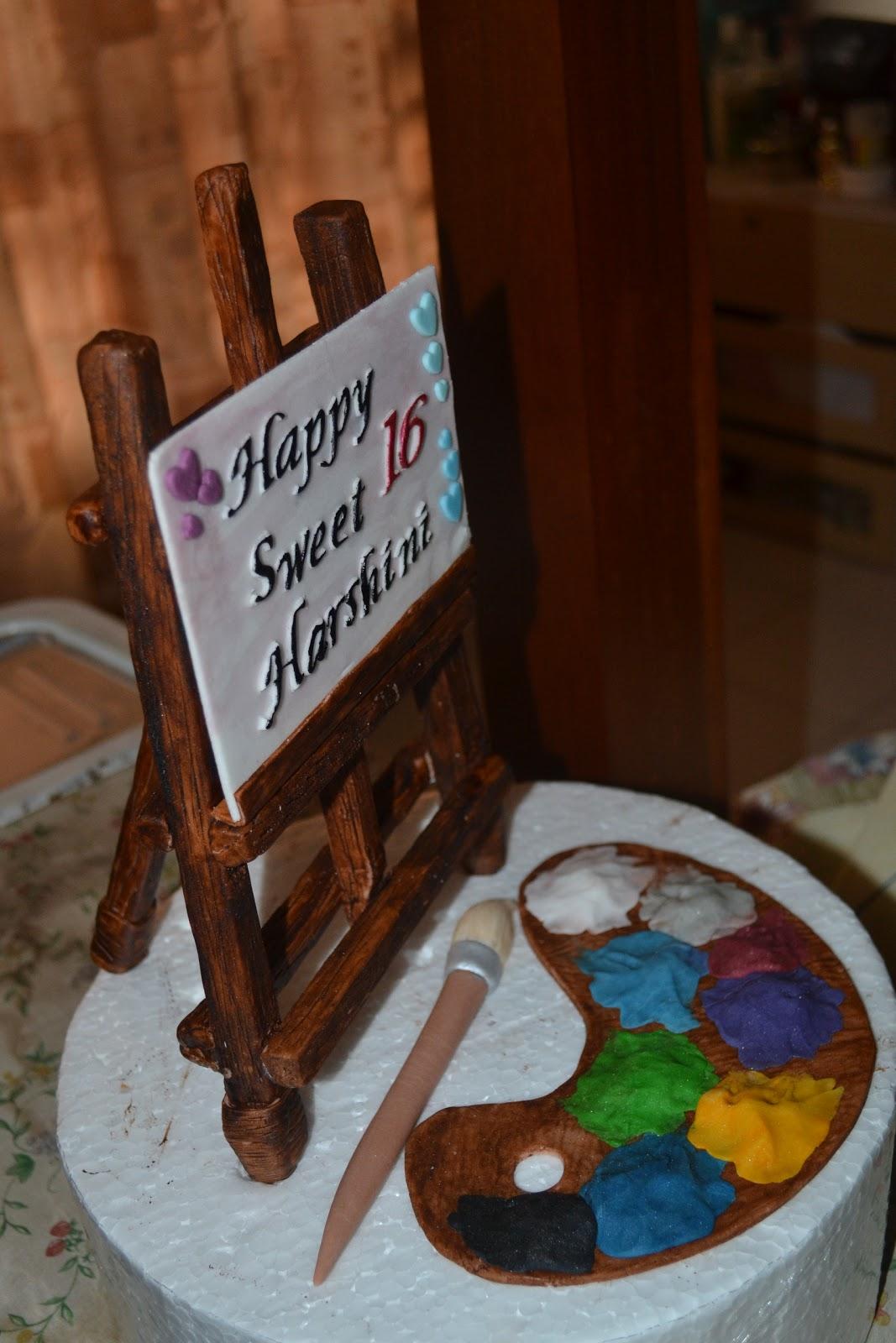 Cakes, Cakes N more: Artist theme cake topper