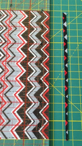 Straighten one edge of fabric