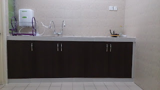 Kitchen cabinet, table top, homestay, Wadi Iman Guesthouse, Shah Alam