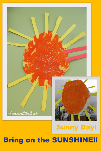 photo of: Preschool Sunshine Paintings