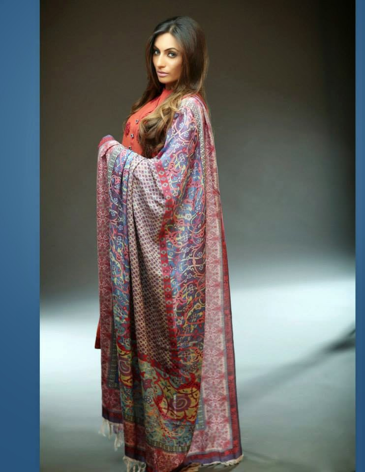 HKFW Pashmina Shawl Collection 2014-2015