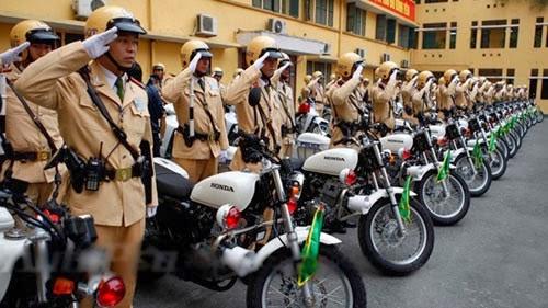 Dàn xe Honda CB223S trang bị cho lực lượng cảnh sát giao thông
