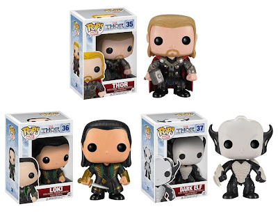 Thor: The Dark World Pop! Marvel Vinyl Figures by Funko - Thor, Loki & Dark Elf