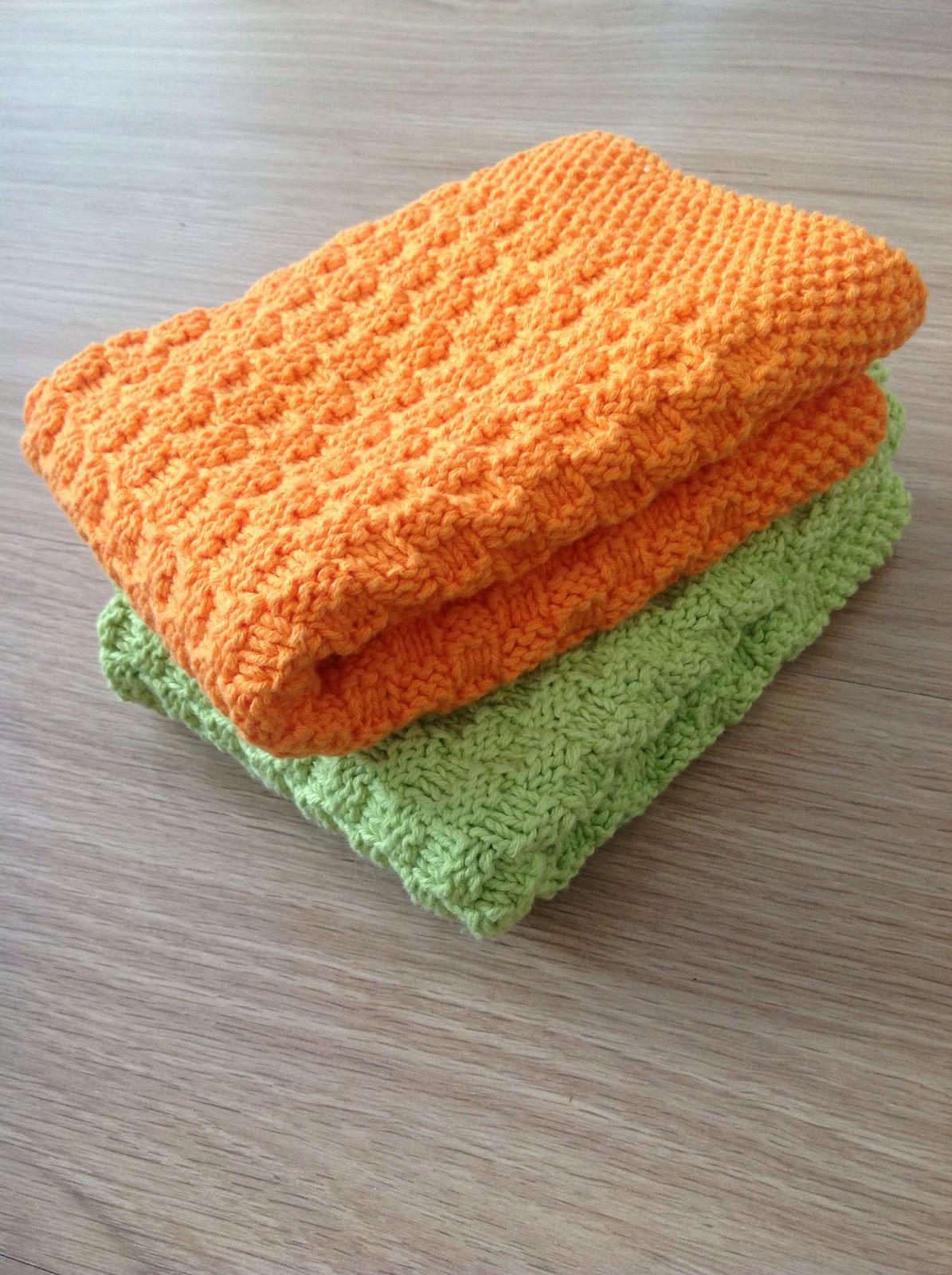 strikkeopskrift håndklæder