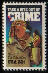 1984年アメリカ合衆国 McGruff The Crime Dog の切手