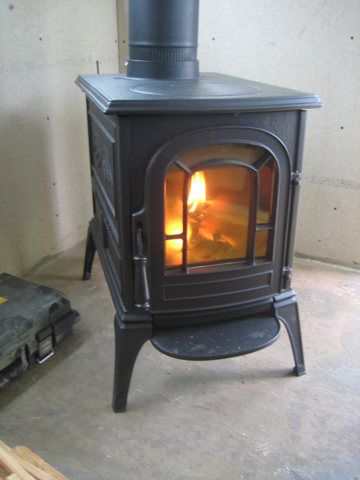 farm bus wood stove