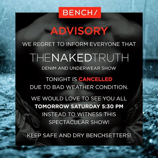 Bench: The Naked Truth Denim & Underwear Show cancelled