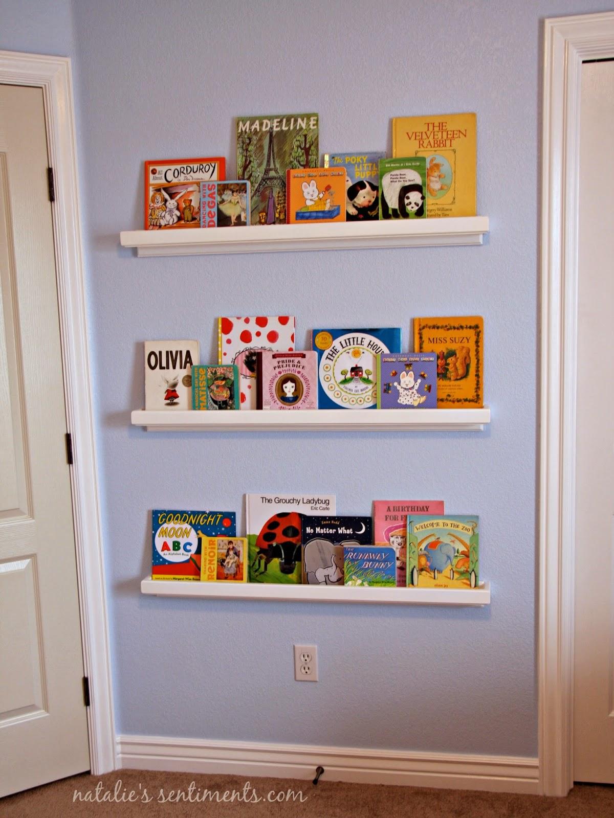 Bookshelves for nursery