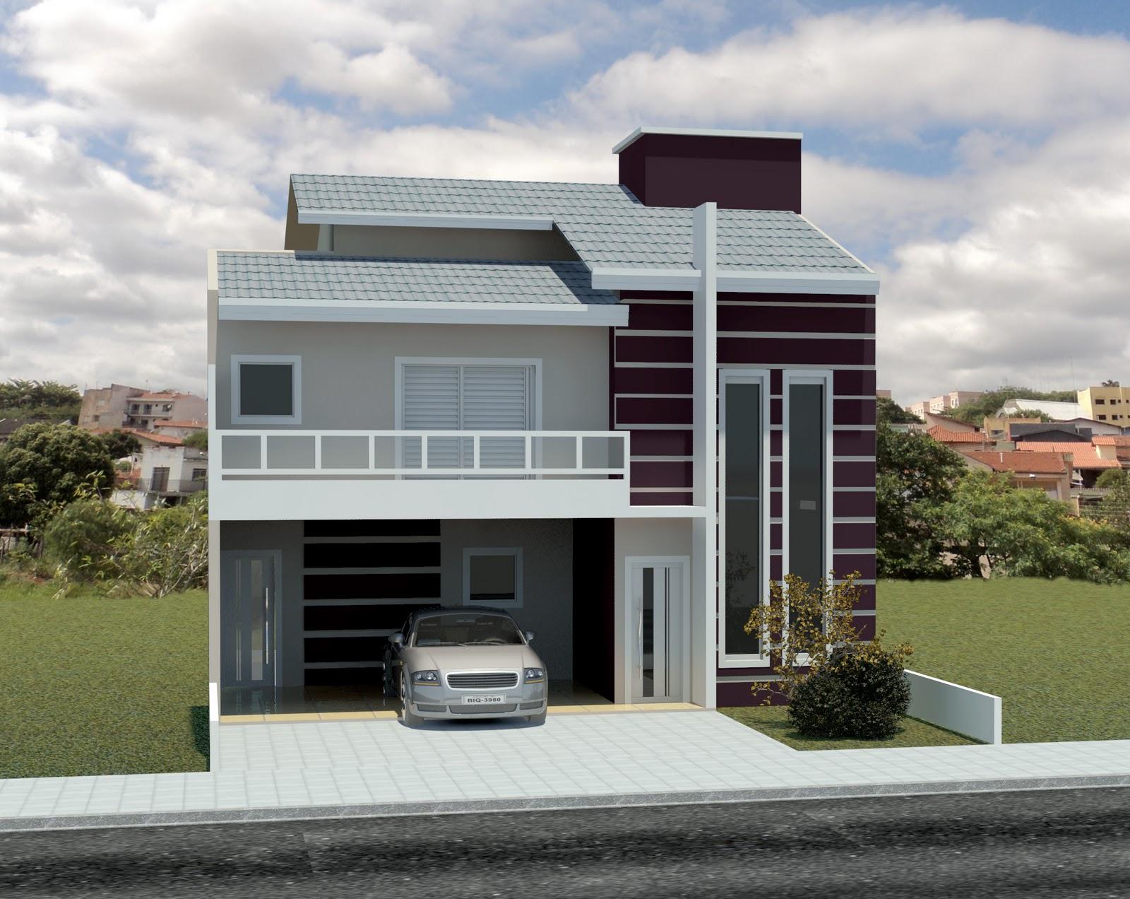Imagens de #865F45  de Projetos: Projeto e Fachada Frontal desenvolvida para Eng. Henrique 1600x1272 px 3408 Bloco Cad Banheiro Vista Frontal