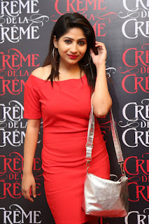 Actress Madhulagna Das Pictures in Red Short Dress at Creme De La Creme 1st Anniversary  252814)