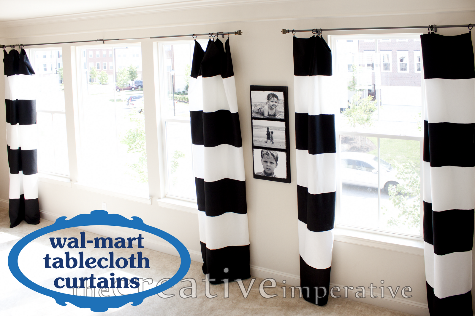 Striped Living Room Curtains The Creative Imperative Black And White Horizontal Striped