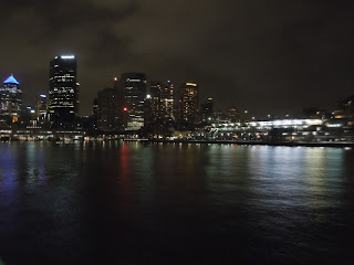 sydney cbd at night from water