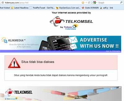 situs melalui browser mozilla firefox contoh cobalah membuka situs ...