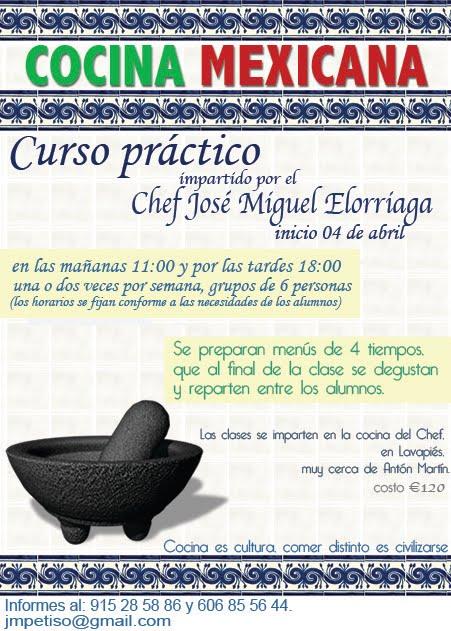 Cursos De Cocina Madrid | Bitacora Del Webmaster De Mexicanos En Espana Curso Practico De
