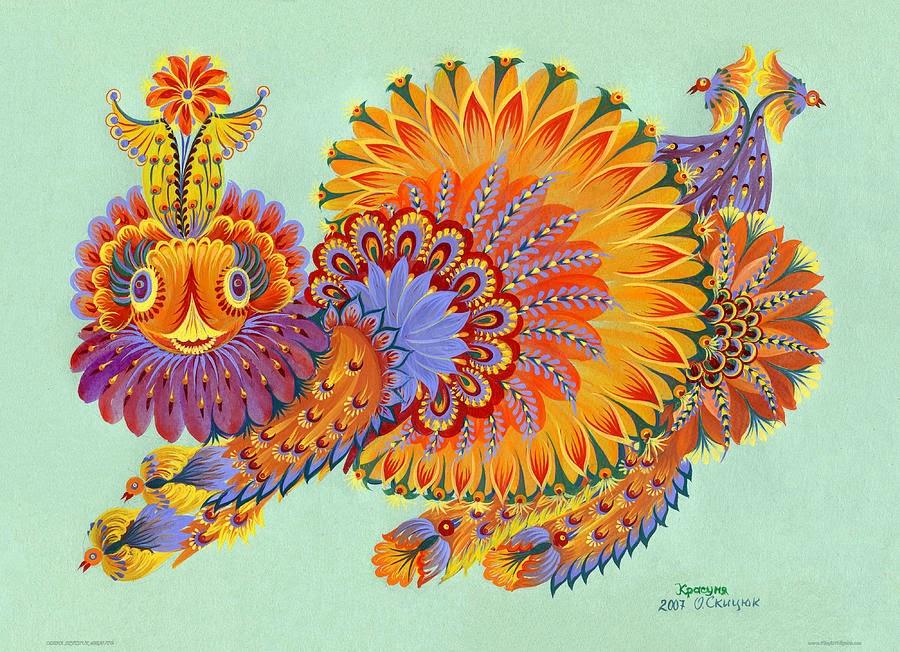 decorative painting by olena skytsiuk - Decorative Painting