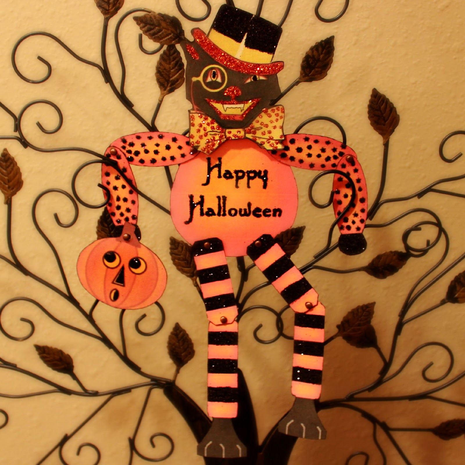 Crafty in Crosby: Vintage Halloween Cat Paper Doll