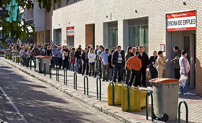 Oficina del paro, desempleo, crisis