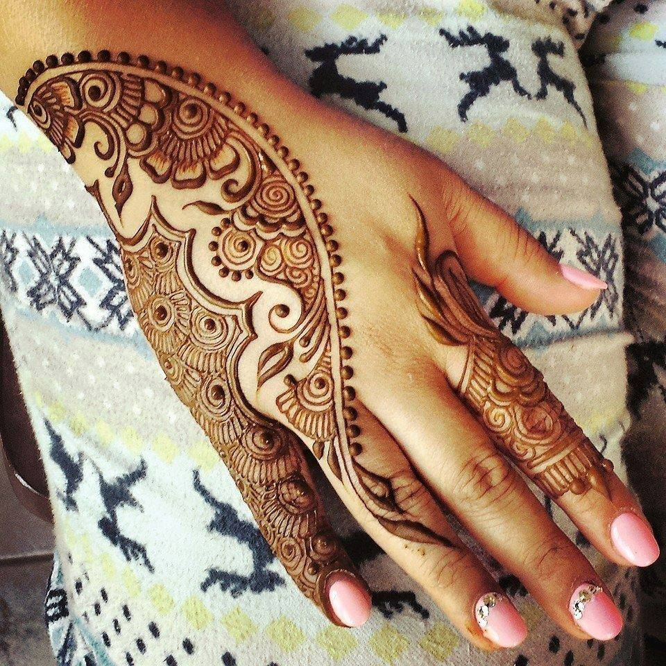 Latest Henna Mehndi Design : Simple mehndi designs one hand new