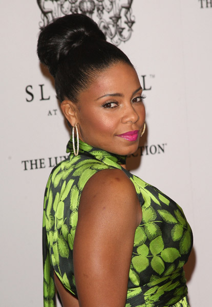 Sanaa Lathan High Bun Hairstyle ...