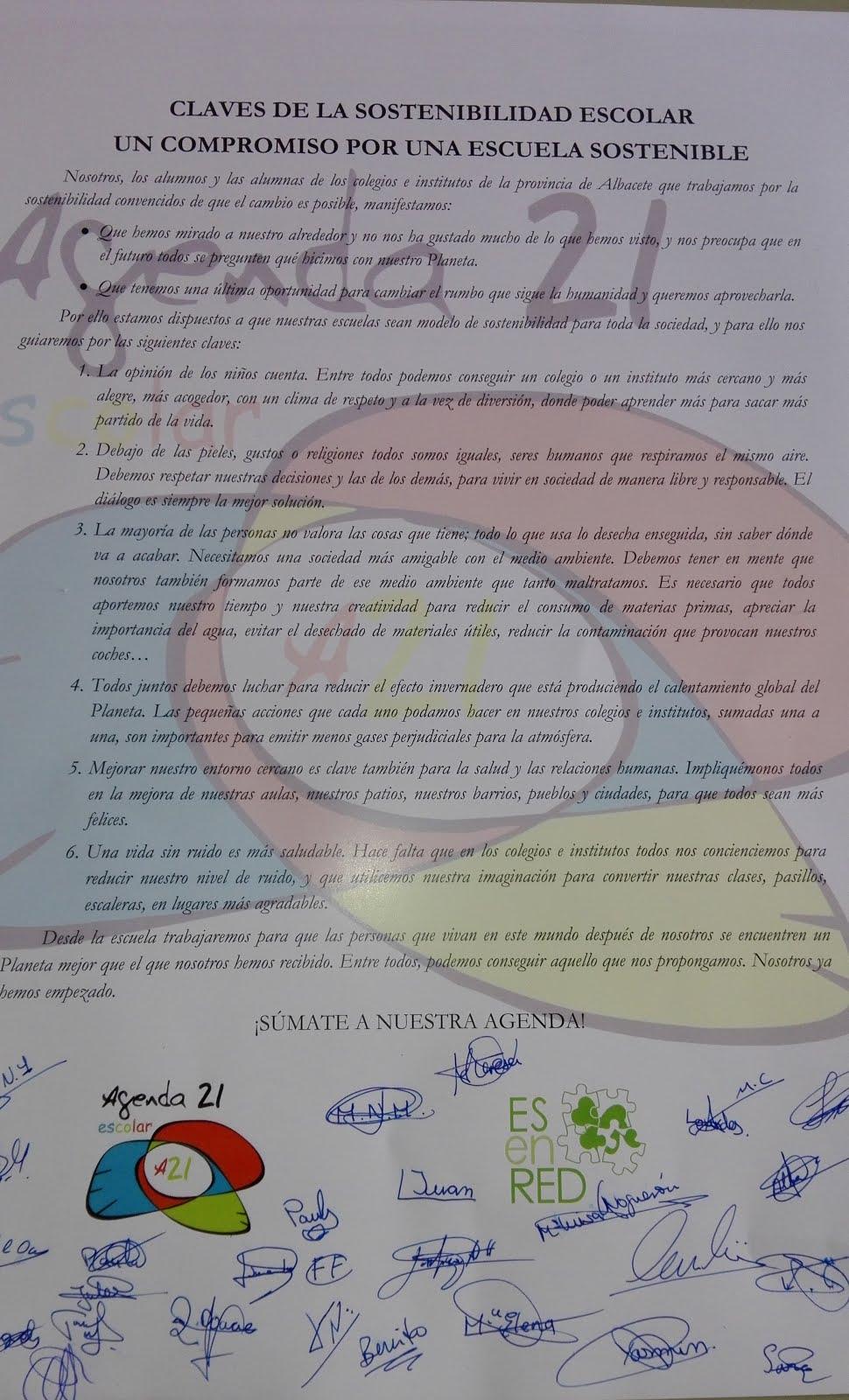 Manifiesto Agenda 21.
