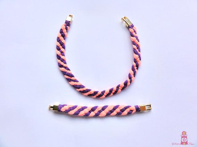 collar y pulsera de trapillo