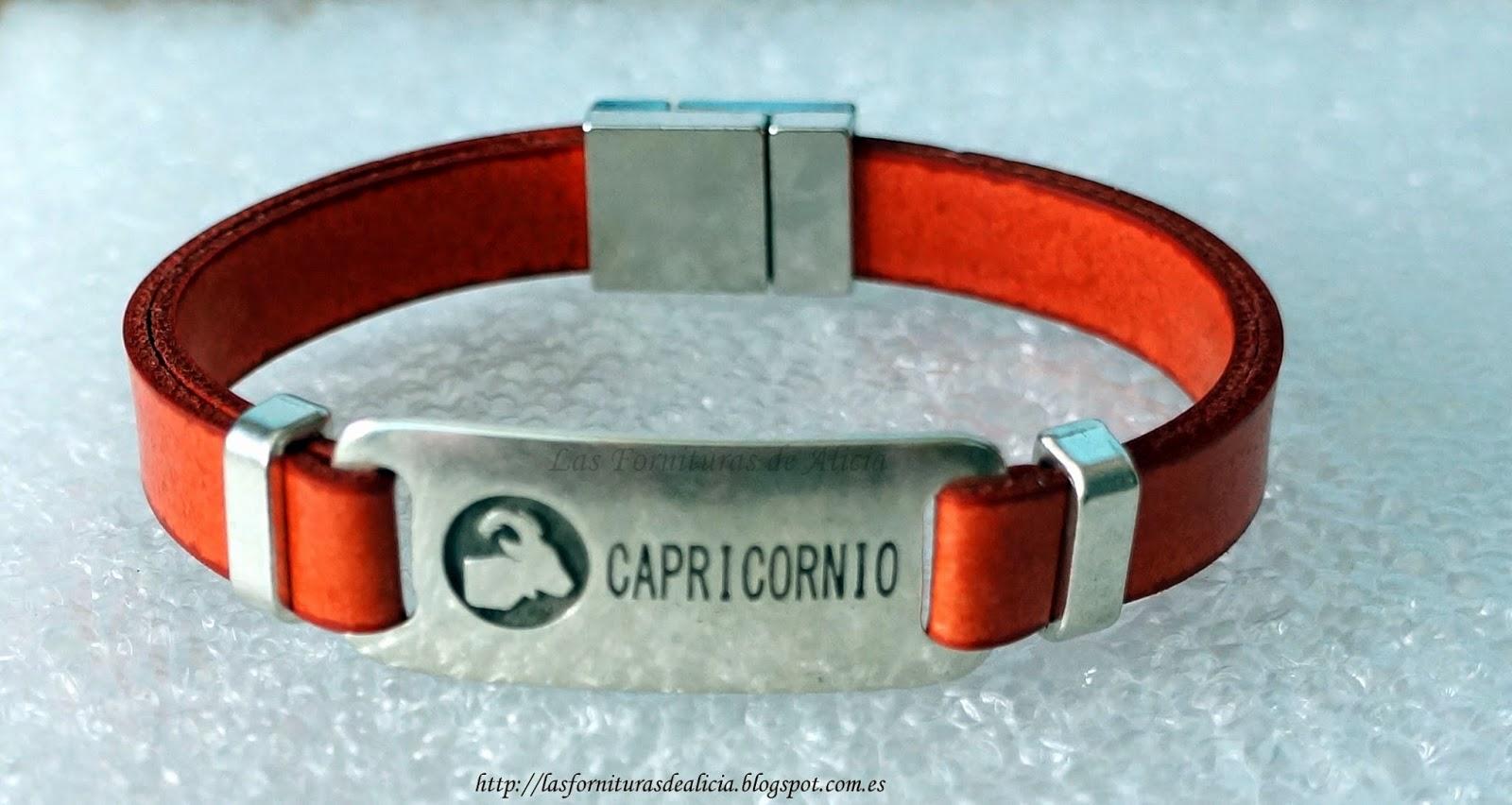 ea2cf60f9d06 DESCRIPCIÓN  Pulsera hecha con tireta de cuero roja y conector zamak( ) con  signo del zodiaco y cierre plateado de imán. Es una pulsera unisex