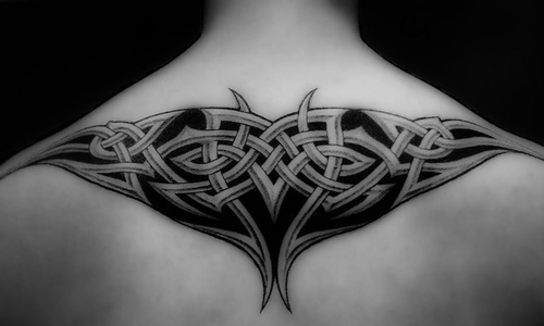 Tattos tattos upper back tribal tattoos for men for Tribal tattoos on back for guys