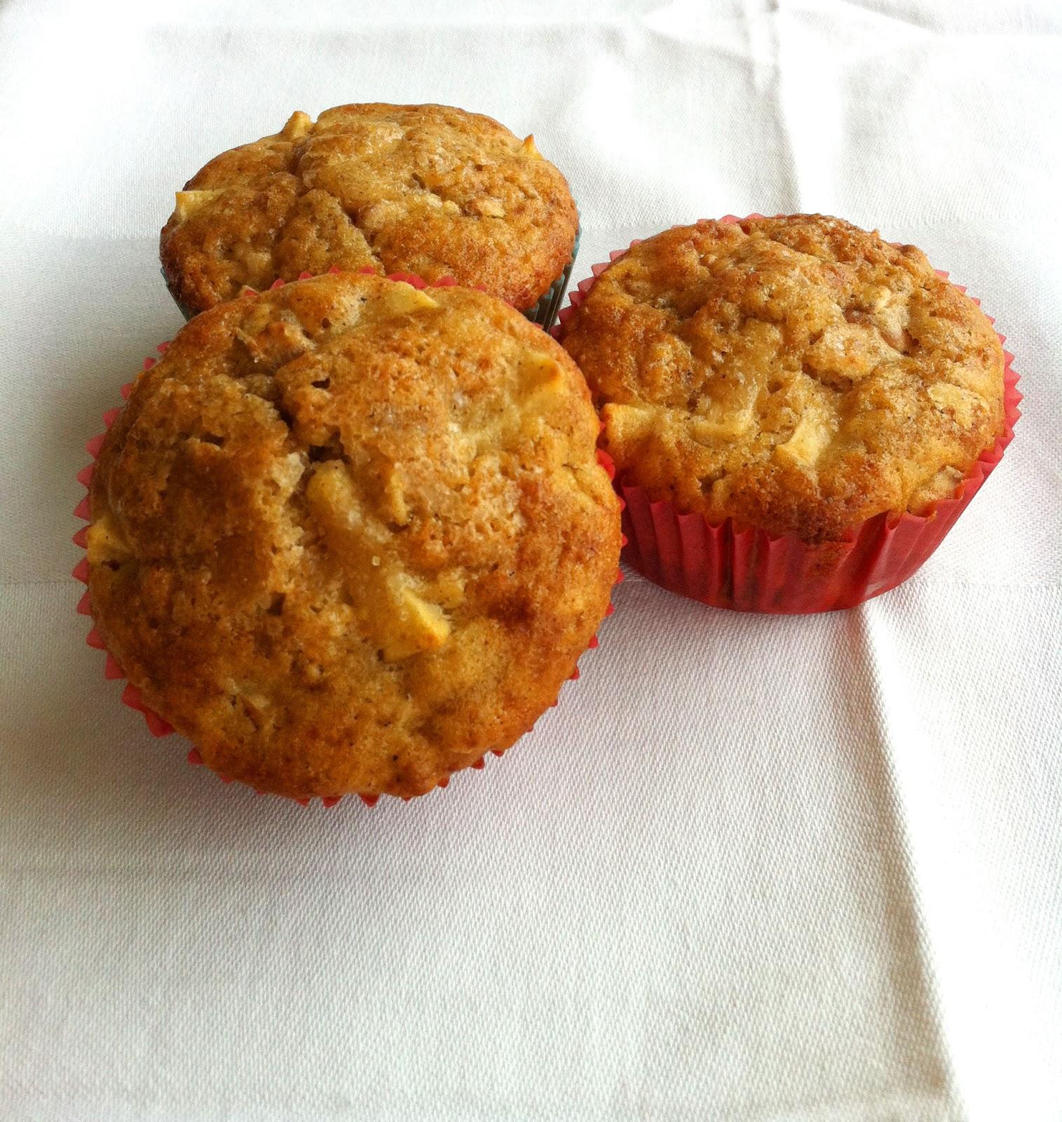 cuisiner bien apfel haferflocken muffins. Black Bedroom Furniture Sets. Home Design Ideas