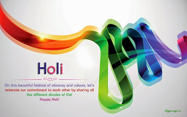 Let's reiterate our commitment to each other by sharing all the different shades of life happy holi !!